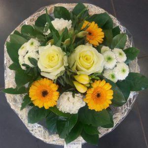Bouquet rond décès