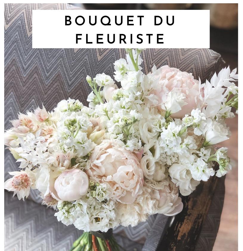 bouquet du fleuriste blanc